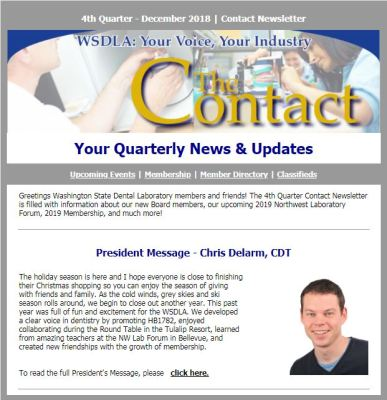 2018 4th Quarter Contact Newsletter - Now Available!